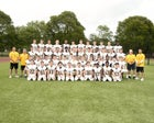 McQuaid Jesuit Knights Boys Varsity Football Fall 19-20 team photo.