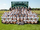 Maple Lake Irish Boys Varsity Football Fall 19-20 team photo.