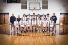 South Brunswick Cougars Boys Varsity Basketball Winter 19-20 team photo.