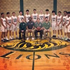 Cedar Park Christian Lions Boys Varsity Basketball Winter 19-20 team photo.